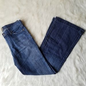 7 For All Mankind Jeans - 7 For All Mankind Dojo Flare Medium Wash Jeans 29